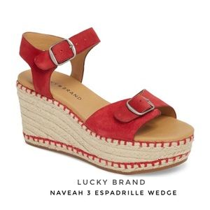 Lucky Brand Naveah 3 Espadrille Wedge